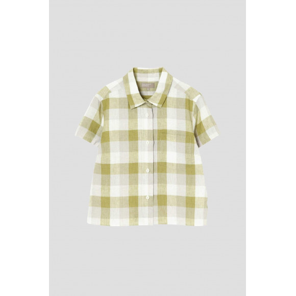 【SALE】BLOCK CHECK LINEN