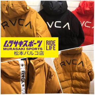 【RVCA(ルーカ)アウター入荷しました!!】