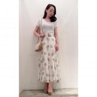 2WAYクロストップ♡フラワープリーツスカート♡DURAS