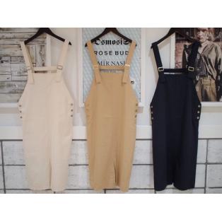 NEW♡『ROSE BUD/サイドボタンジャンパースカート』