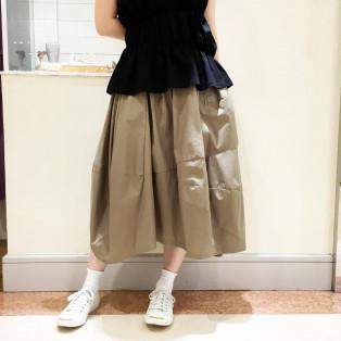 ボリュームバルーンコットンスカート
