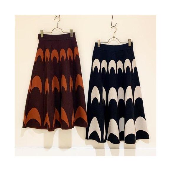 【セール】三日月柄ニットスカート
