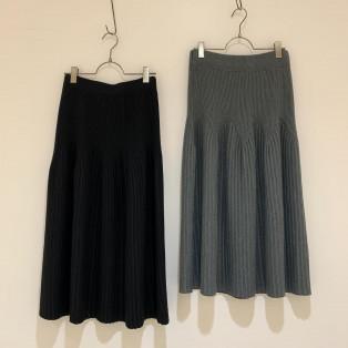 フレアリブニットスカート