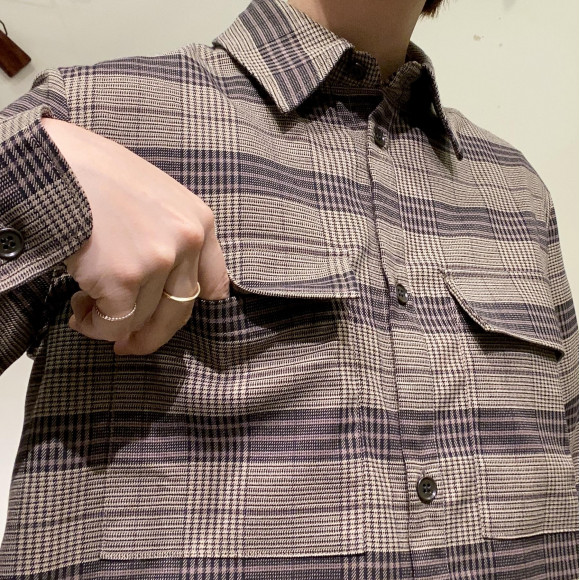 Allumer / タータンチェックシャツ