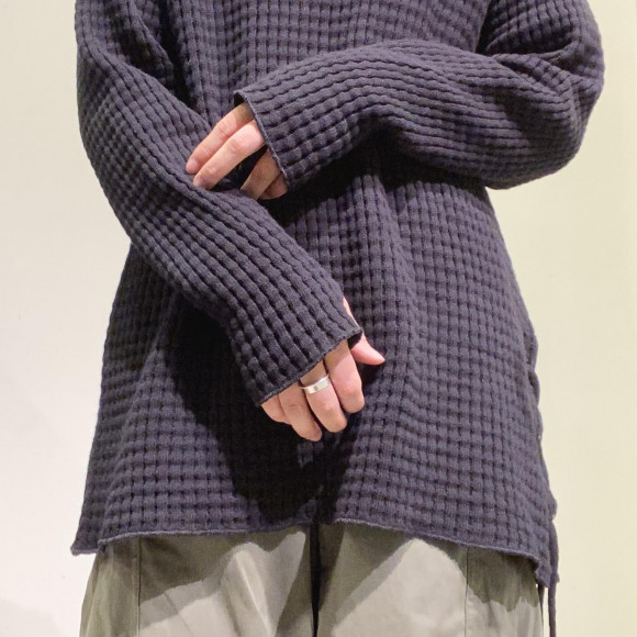 AUDITION/Big Waffle Laceup Pullover