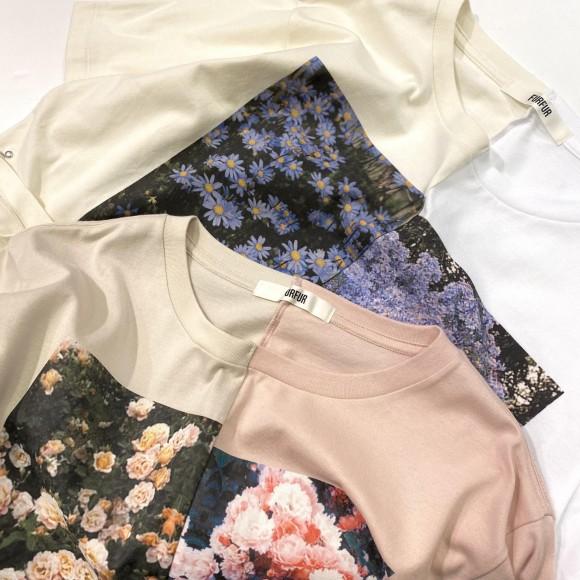 FURFUR / ハーフデザインプリントTシャツ