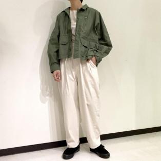 kha:ki / ミリタリーワイドジャケット