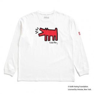 【Manhattan Portage】Long Sleeve Print T-Shirt Keith Haring 7/17発売