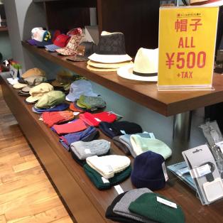 ¥500帽子追加しました!!