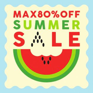 MAX80%オフ!オンライン<サマーセール>開催!