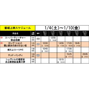 《上映スケジュール》2019/1/4(土)~2020/1/10(金)
