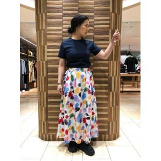 柄スカートかわゆいです!