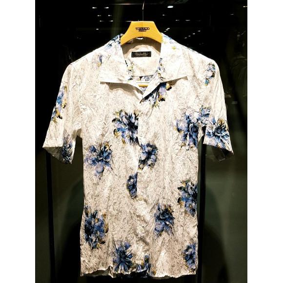 マリーゴールドプリント半袖シャツ