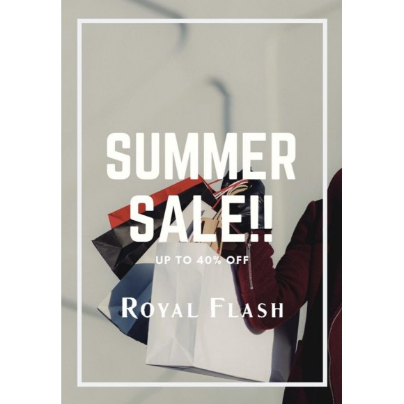 ROYAL FLASH SUMMER SALE開催中!!