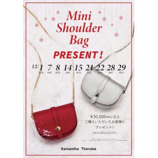 ☆12月ミニショルダーバッグプレゼントキャンペーン☆