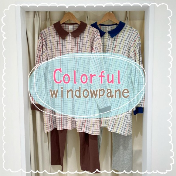 【パジャマ】Colorful windowpane