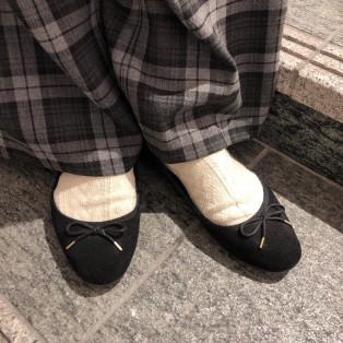靴下で変わります
