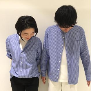 【おすすめ】新疆綿ブロード スタンドカラーシャツ