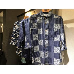 夏にオススメ、インディゴ染めシャツです!