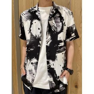 デジタルブラッシュプリント半袖シャツ
