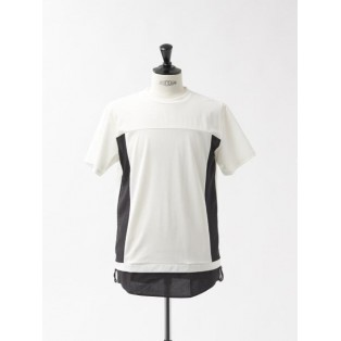 ブロックサイドギャザー 半袖 Tシャツ