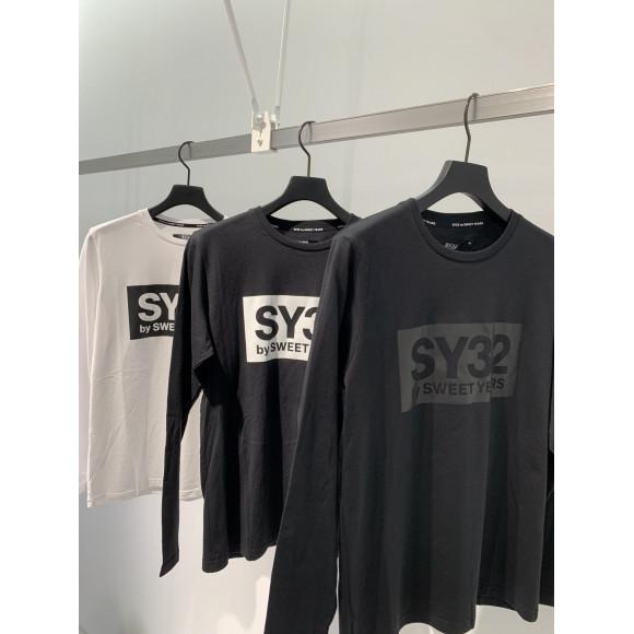 SY32新作!  ボックスロゴ長袖Tシャツ