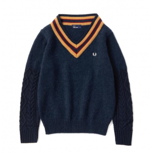 W's【CABLE KNIT SWEATER】