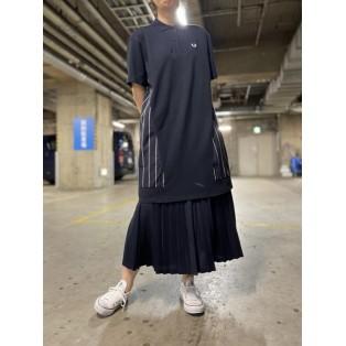 WOVEN PANEL POLO SHIRT DRESS