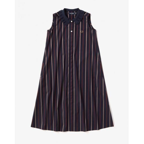 RIB COLLAR SHIRT DRESS