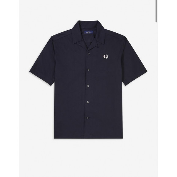 EMBROIDERED REVERE COLLAR SHIRT