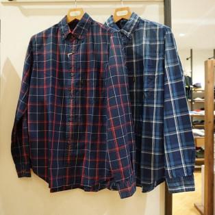 アディショナルフェア:インディゴチェックシャツ