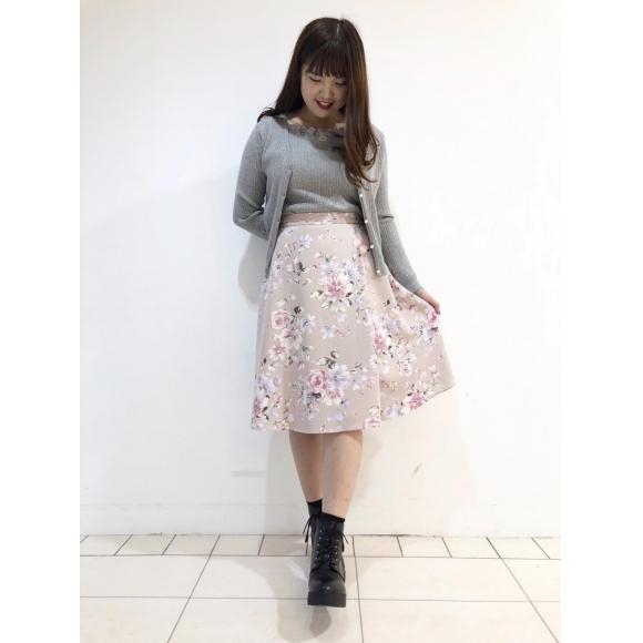 モール刺繍ツイン×ガーデンブーケスカート