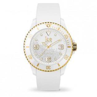 アイスウォッチ  ice watch ICE crystal - アイス クリスタル ホワイト ゴールド スムーズ (ミディアム)