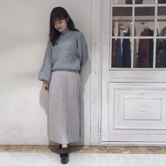 冬のスカートはロング丈で大人っぽく♡