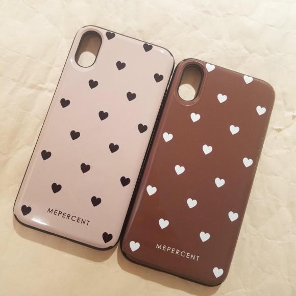 大人気♡Sミラーハートドット&ロゴ iPhoneケース