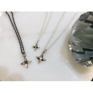 mollive SILVER STAR CROSS NECKLACE