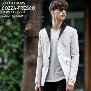 本日入荷 COZZA-FRESCO(コッザ-フレスコ)イタリアンカラー ジャケット
