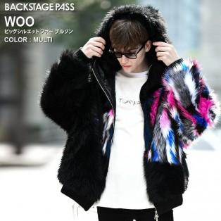 今季おすすめ商品 男女着用可能 モコモコのグラデーションファーが魅力のストリート感溢れるビッグシルエット ファー ブルゾン。