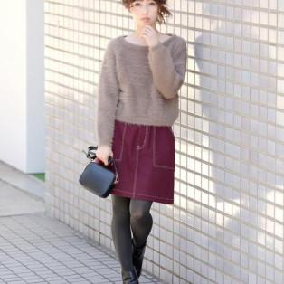 美人百花12月号掲載のふわふわニット♥〈UNRELISH〉