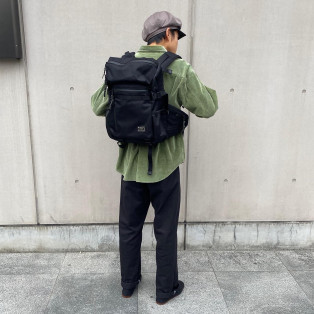 AS2OV ~CORDURA DOBBY ROUND ZIP BACK PACK~