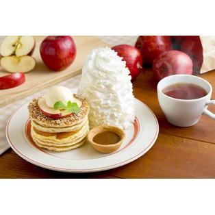 季節にぴったりアップルパイ・パンケーキ♡