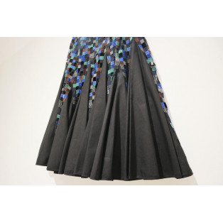《sacai サカイ》Embroidered Cotton-blend Skirt