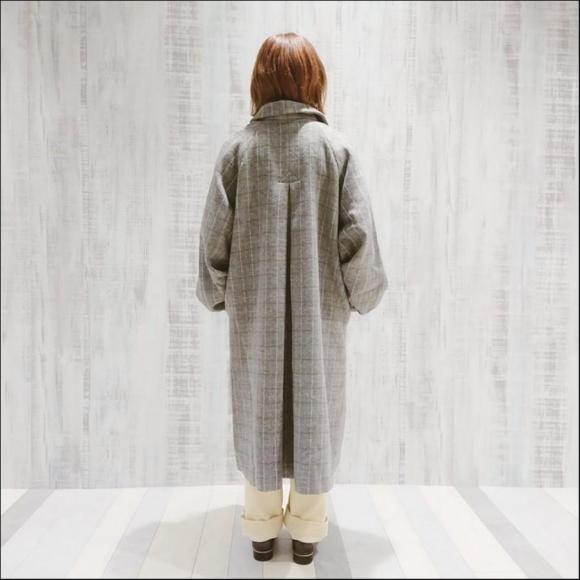 シャンブレービーバーぷっくり袖コート