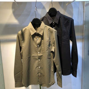 40ブロードL/Sストレッチシャツ