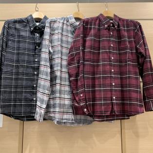 肌あたり抜群ネルチェックシャツ!!