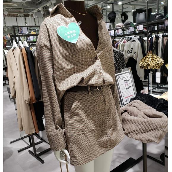 シャツ&ミニスカートセット人気商品!再入荷!!