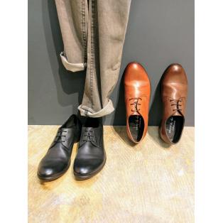 『Drape design  plane toe shoes』Classic shoes!!