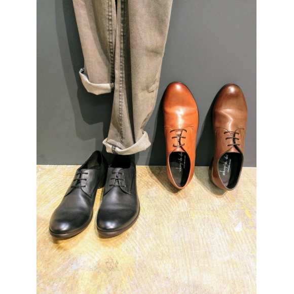 『Drape design  plane toe shoes』Classic shoes!!