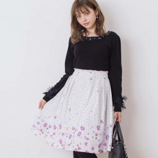 花柄×ドットのオリジナル柄♥スカート〈LODISPOTTO〉