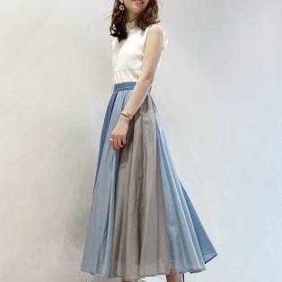 ♡3配色フレアスカート♡